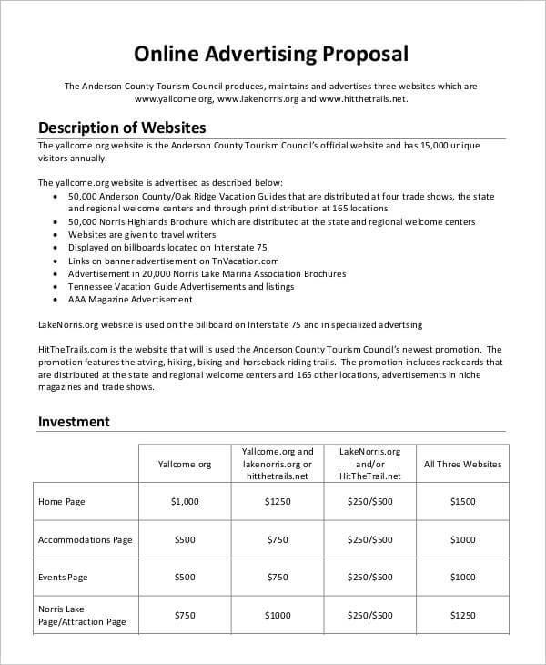 Advertising Proposal Template PDF