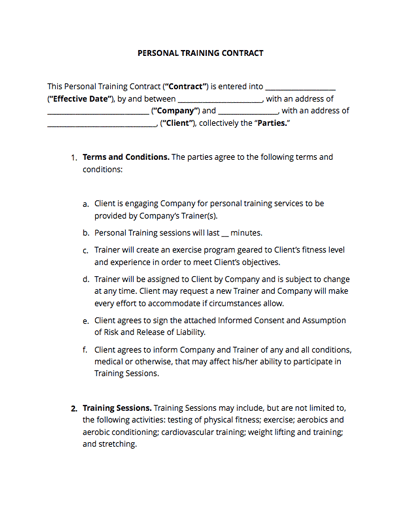 Freelance Trainer Agreement Template