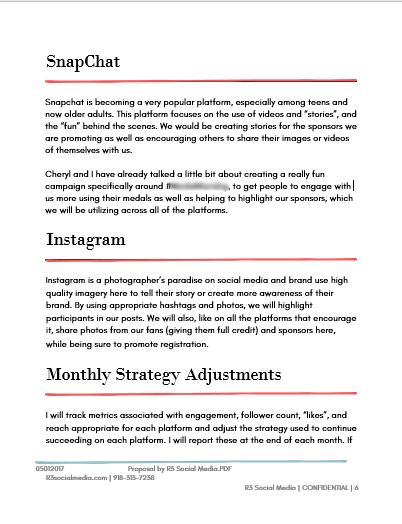 Social Media Proposal Template PPT Sample