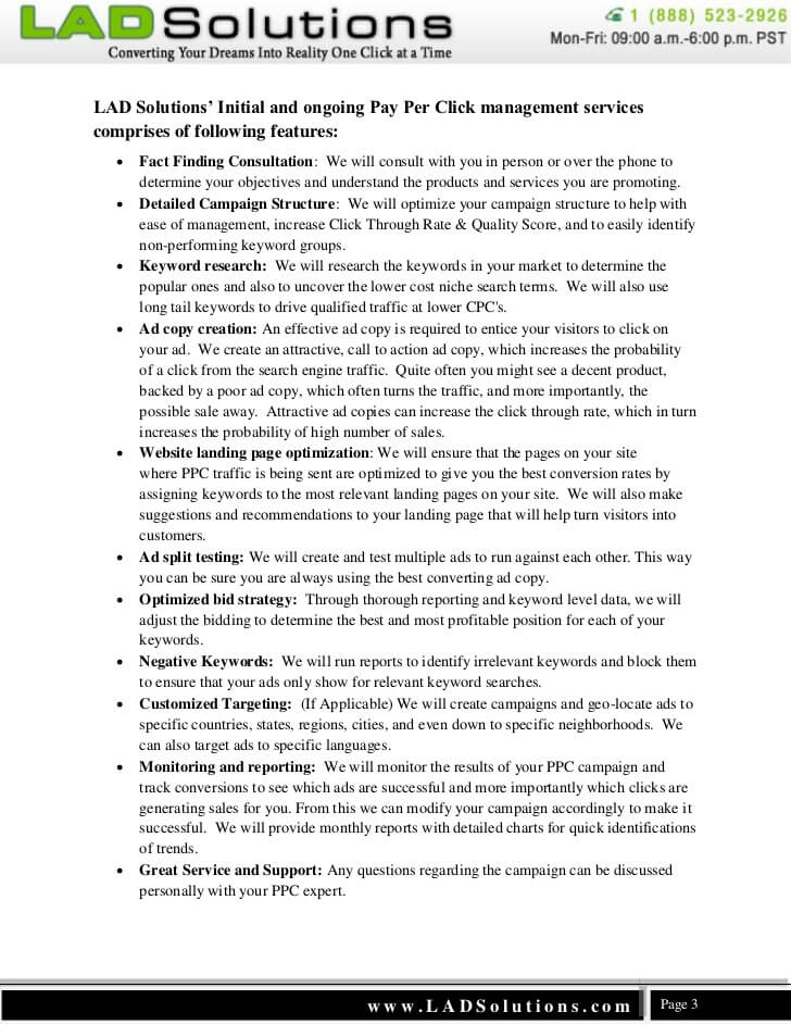 PPC Management Contract Template Sample