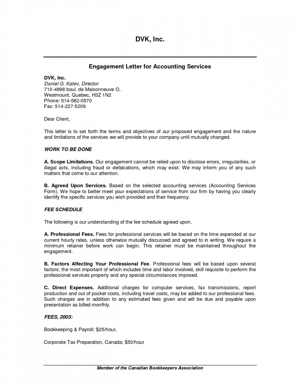Accounting Services Proposal Template Example