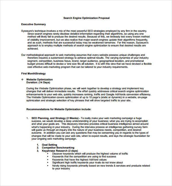 SEO Proposal Template Sample