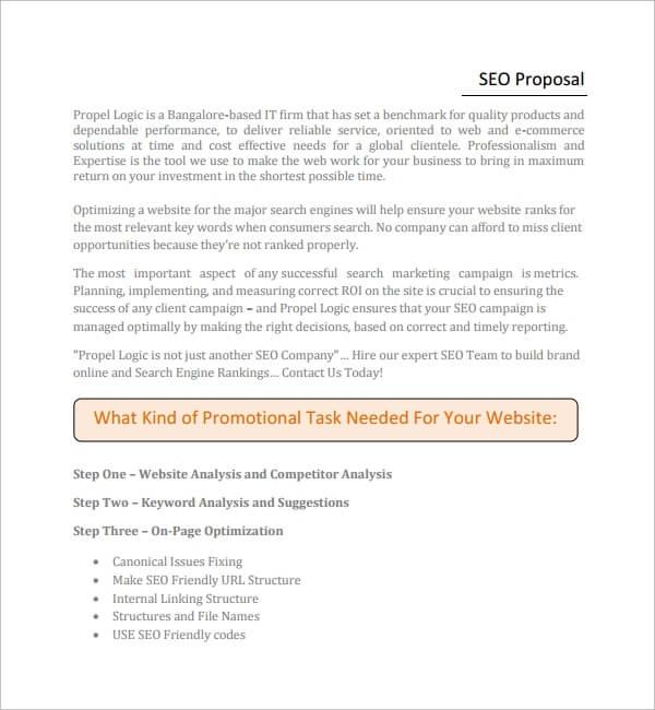 SEO Proposal Template PDF