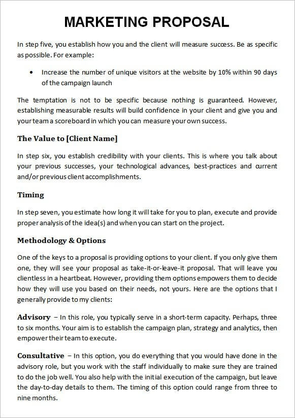Digital Marketing Agency Proposal Template Example