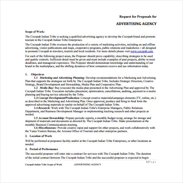 Digital Marketing Agency Proposal Template Example PDF