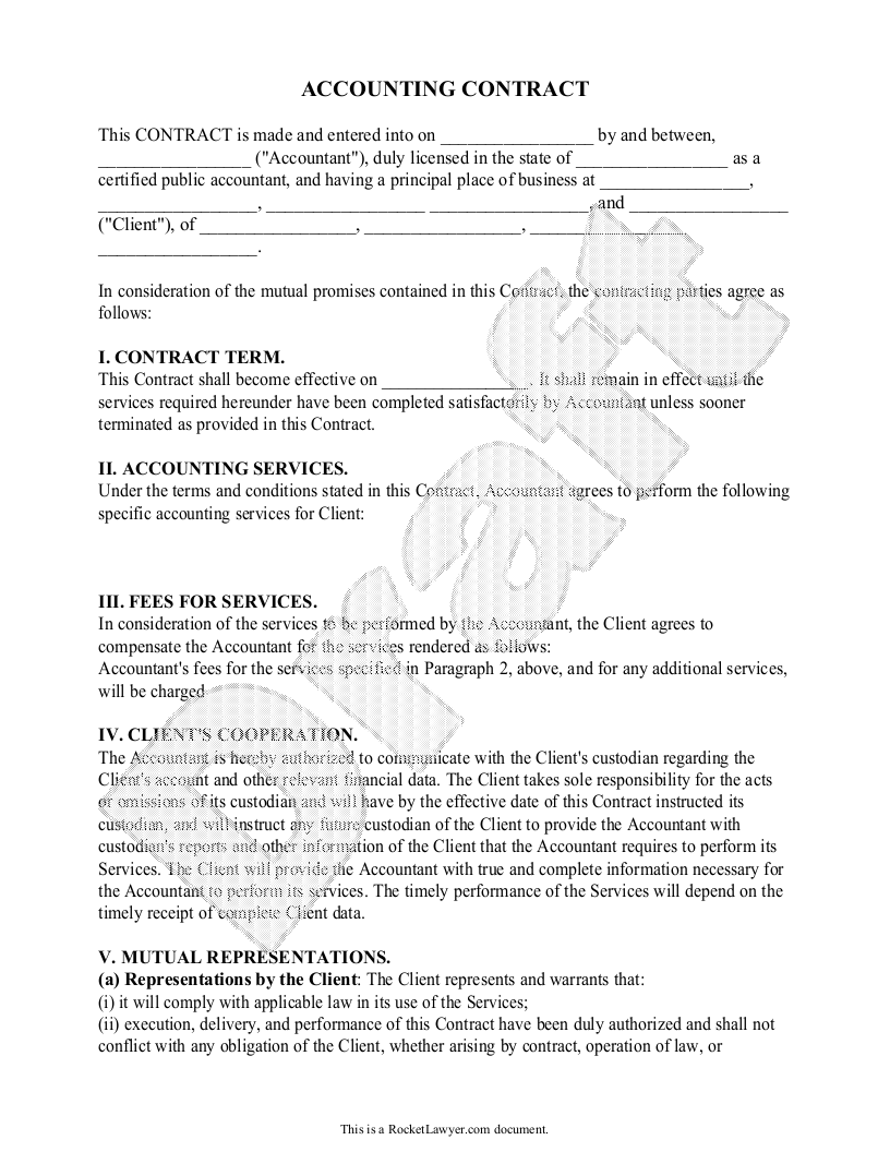 Bookkeeping Service Agreement Template Sample PDF