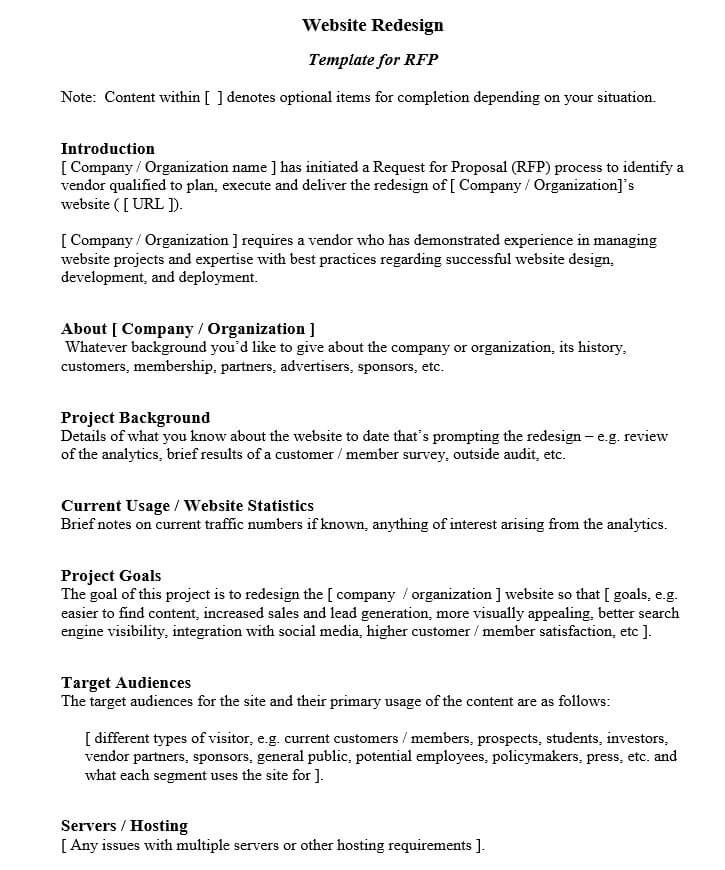 Website Redesign Proposal Template