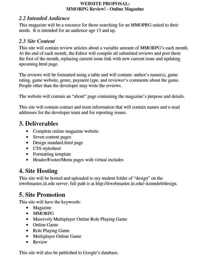 Website Redesign Proposal Template Sample