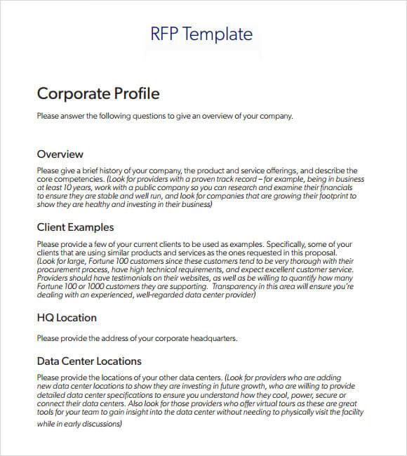 Marketing RFP Example