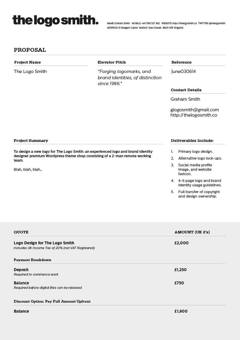 Graphic Design Invoice Template Sample