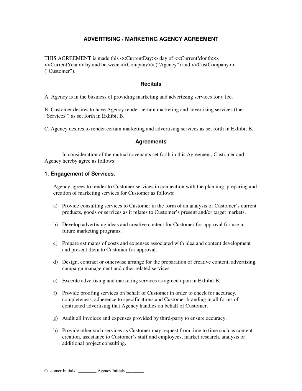 SEO Contract Template Example
