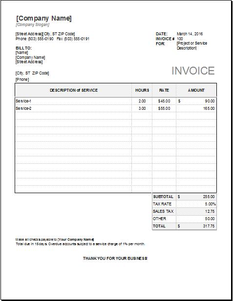 Consultant Invoice Template Sample PDF