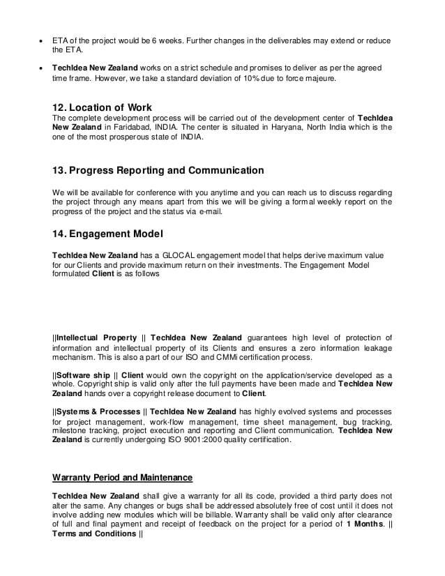 eCommerce Website Proposal Template PPT Sample