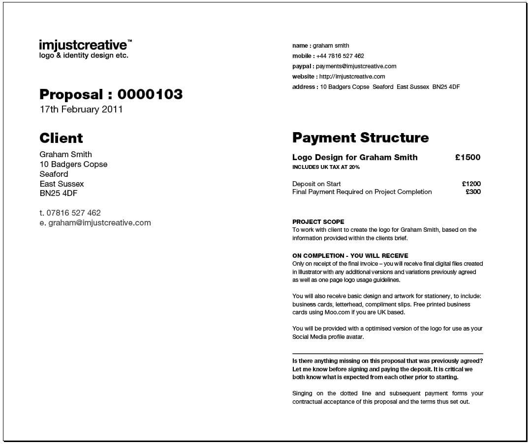 Content Marketing Proposal Template Sample