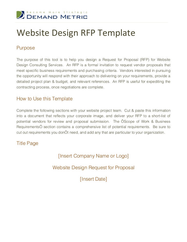 Graphic Design RFP Sample