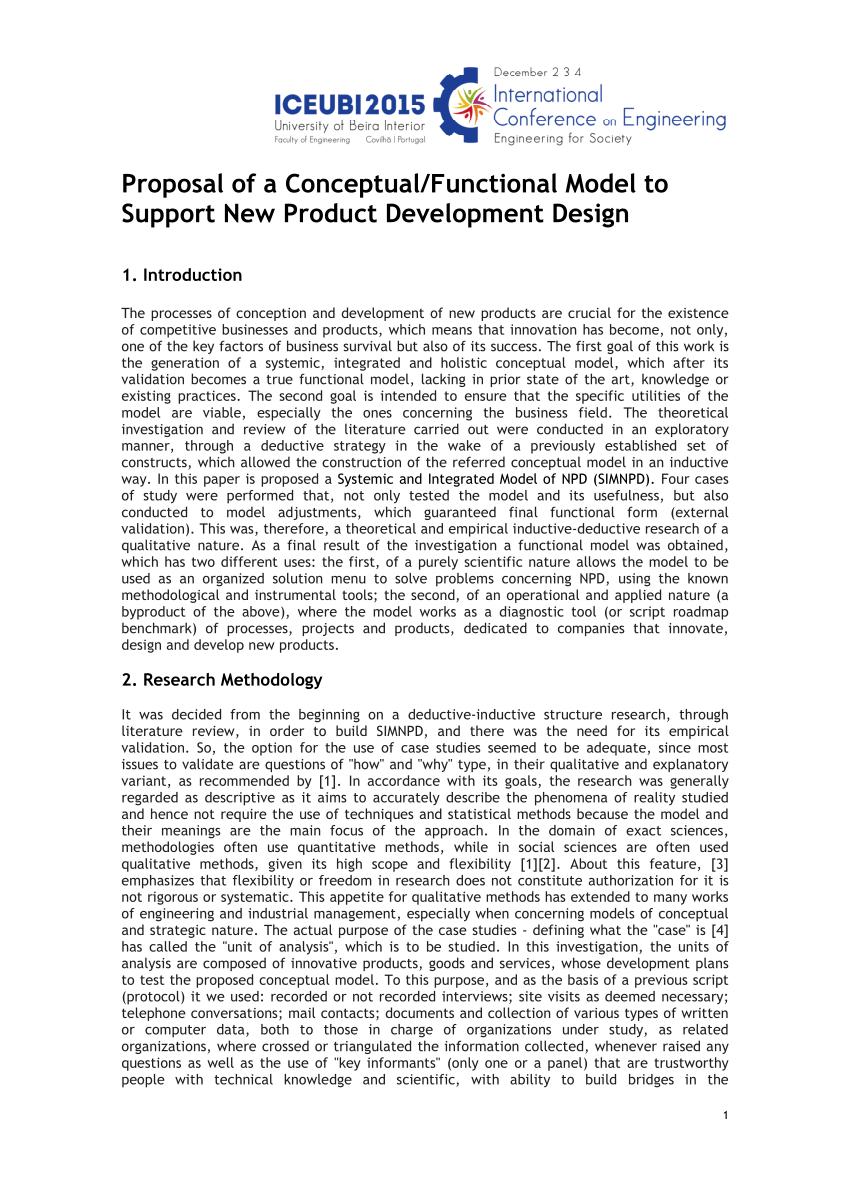 Product Development Proposal Template Sample