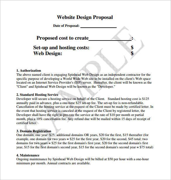 Network Design Proposal Template Sample