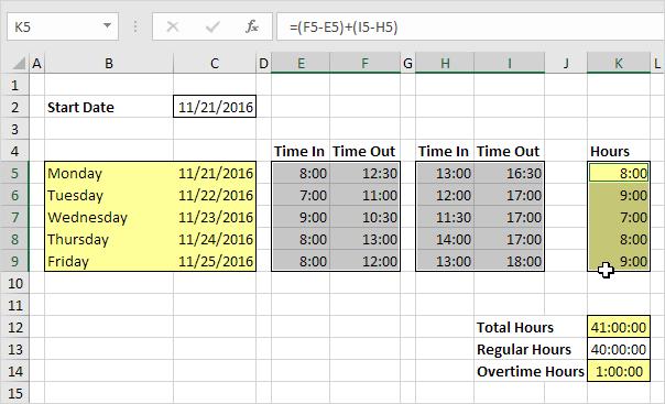 Excel Time Sheet