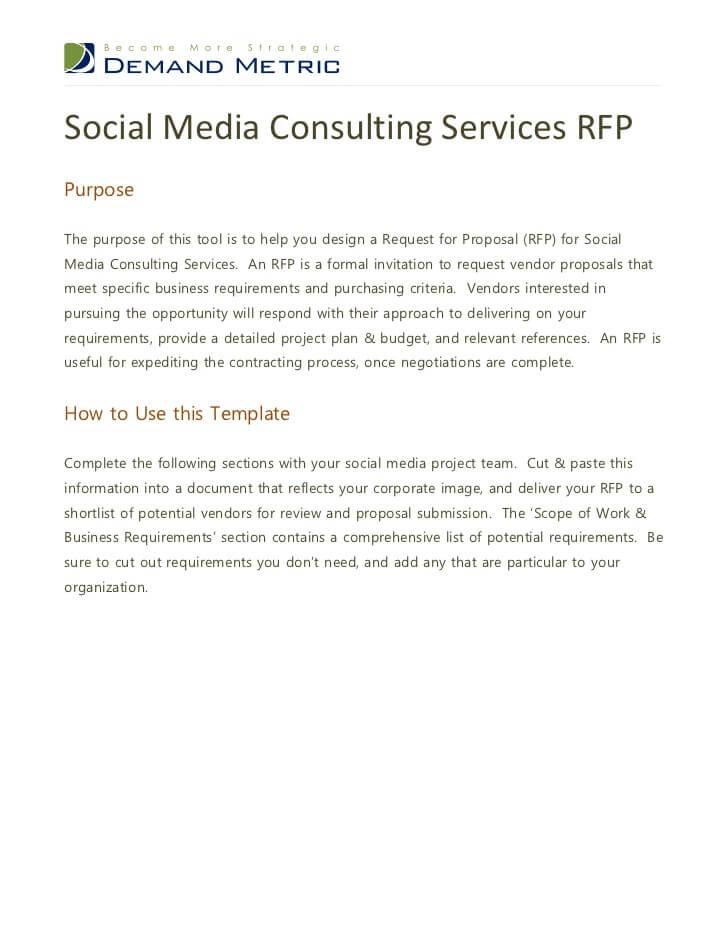 Social Media RFP