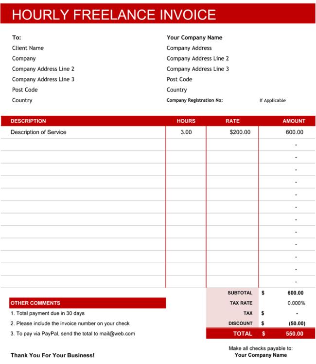 Modern Invoice Template Sample