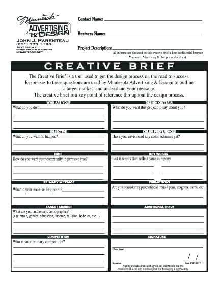 Marketing Campaign Brief Template Sample