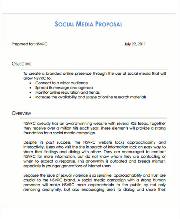 SMM Proposal Template