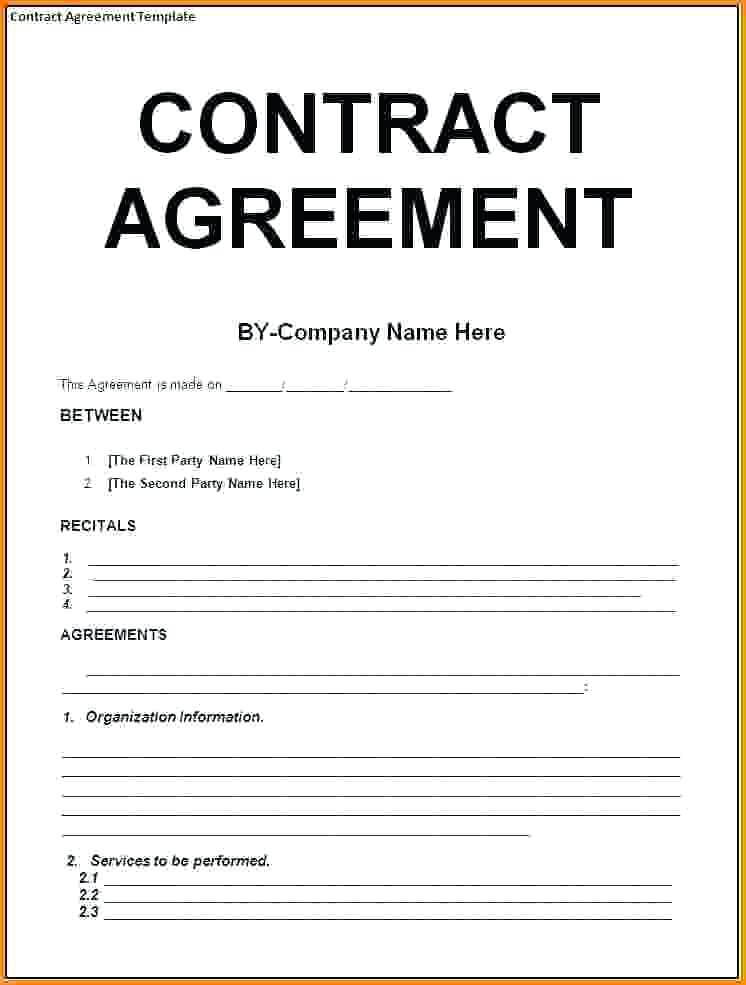 Generic Contract Template Sample