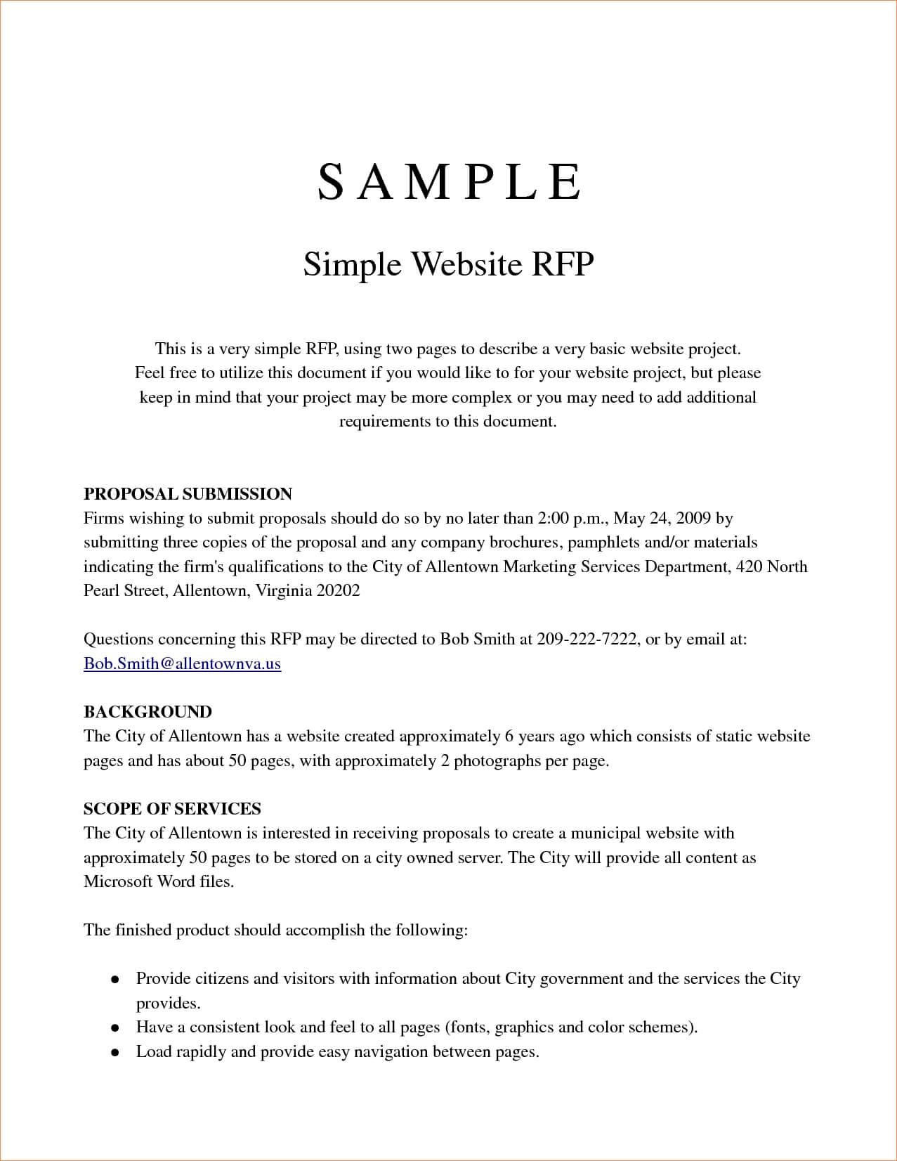 SEM RFP Example