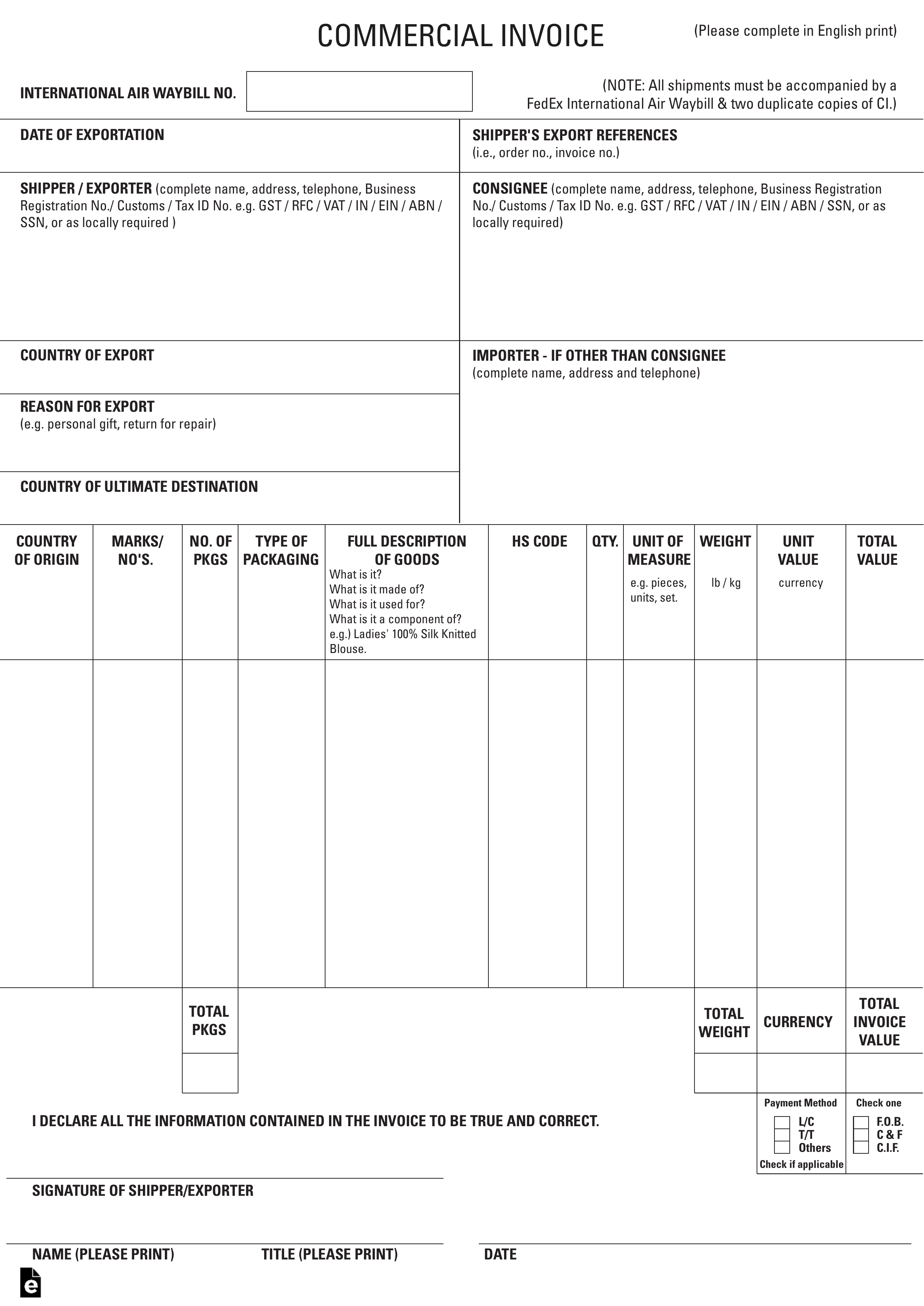 Custom Invoice Template