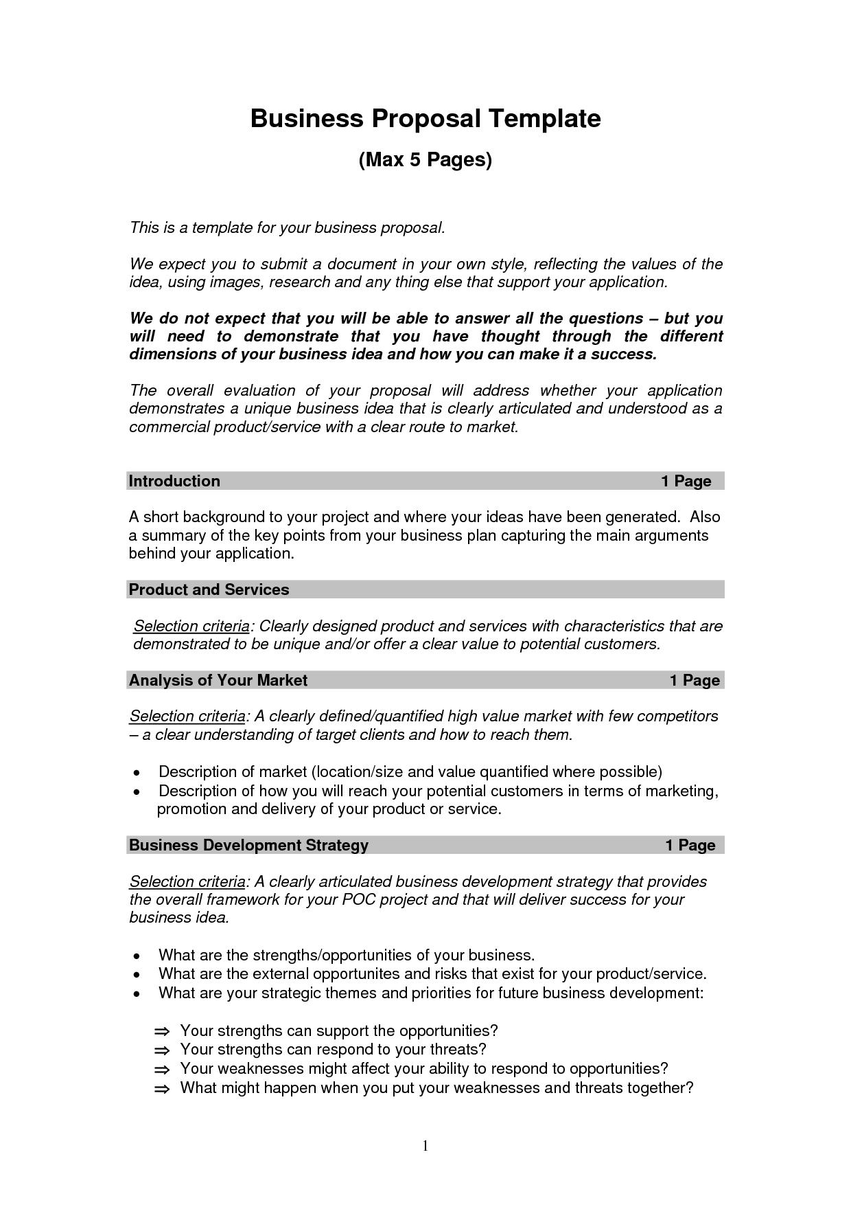 Creative Proposal Template Sample