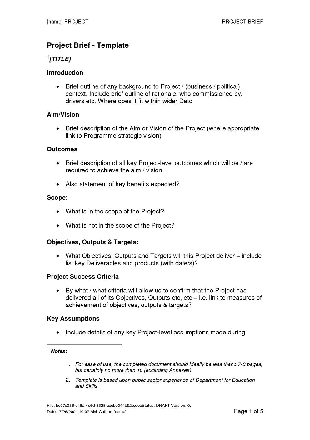 Brief Template PDF