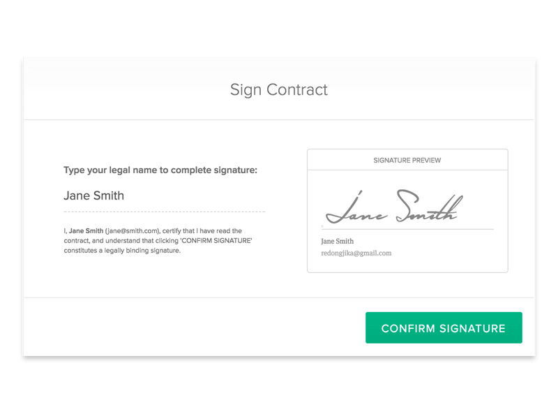 Sign Contract in Bonsai