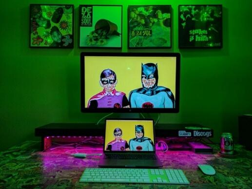batman and robin theme workstation