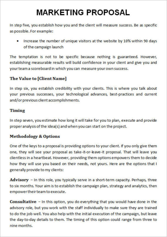 marketing proposal template example