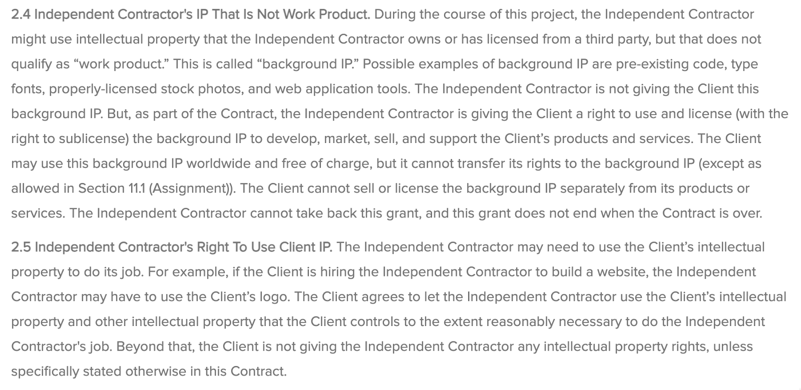 instructions about intellectual property