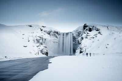 Skógafoss-winter