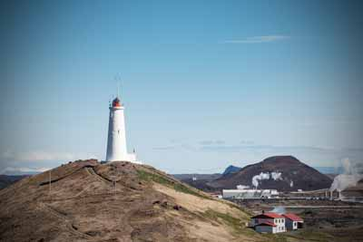 Lighthouse in Reykjanes