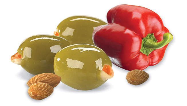 Almond & Red Pepper Stuffed Olives Image
