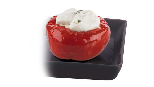Cherry Peppers Stuffed with Cream Cheese Image
