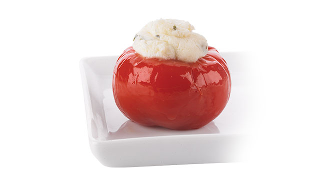 Hot Cherry Peppers Stuffed with Feta Cheese Image