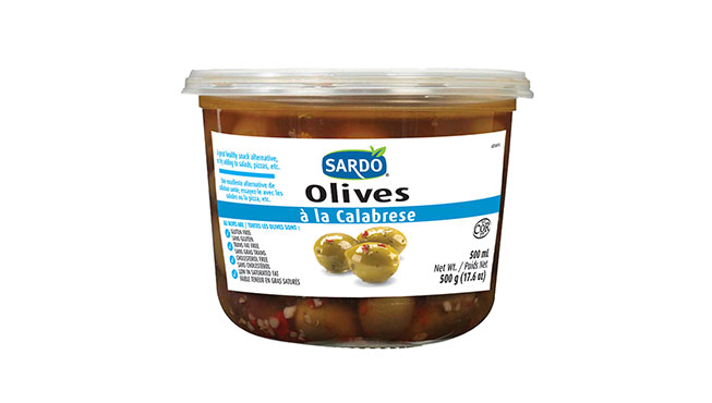 Whole Calabrese Style Olives 500 mL