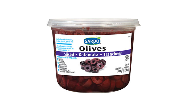 Sliced Kalamata Olives 500 mL