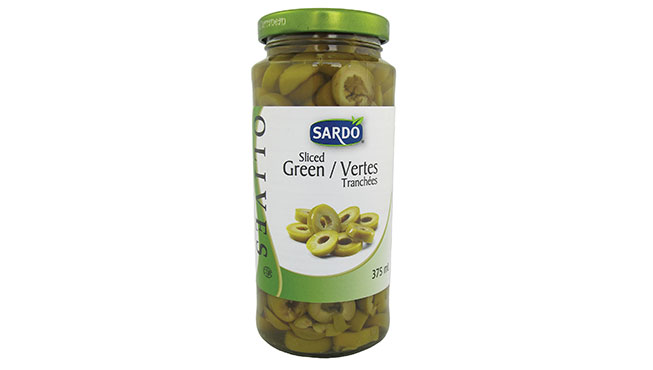 Sliced Green Olives 375 mL