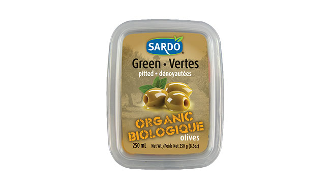 Organic Pitted Green Olives 250 mL