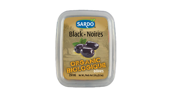 Organic Whole Royal Black Olives 250 mL