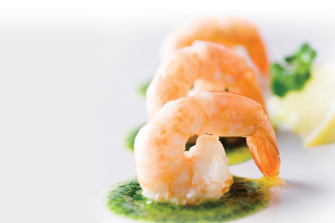 Basil Pesto Shrimp Appetizer