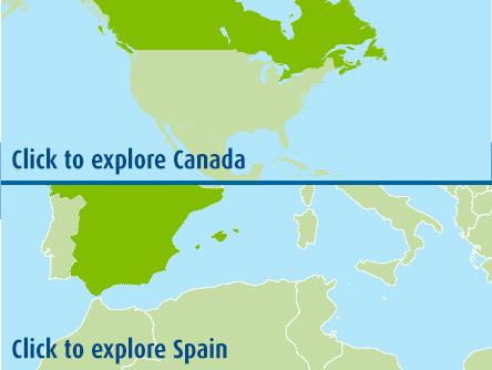 ....Canada & Spain..Canada & Espagne....