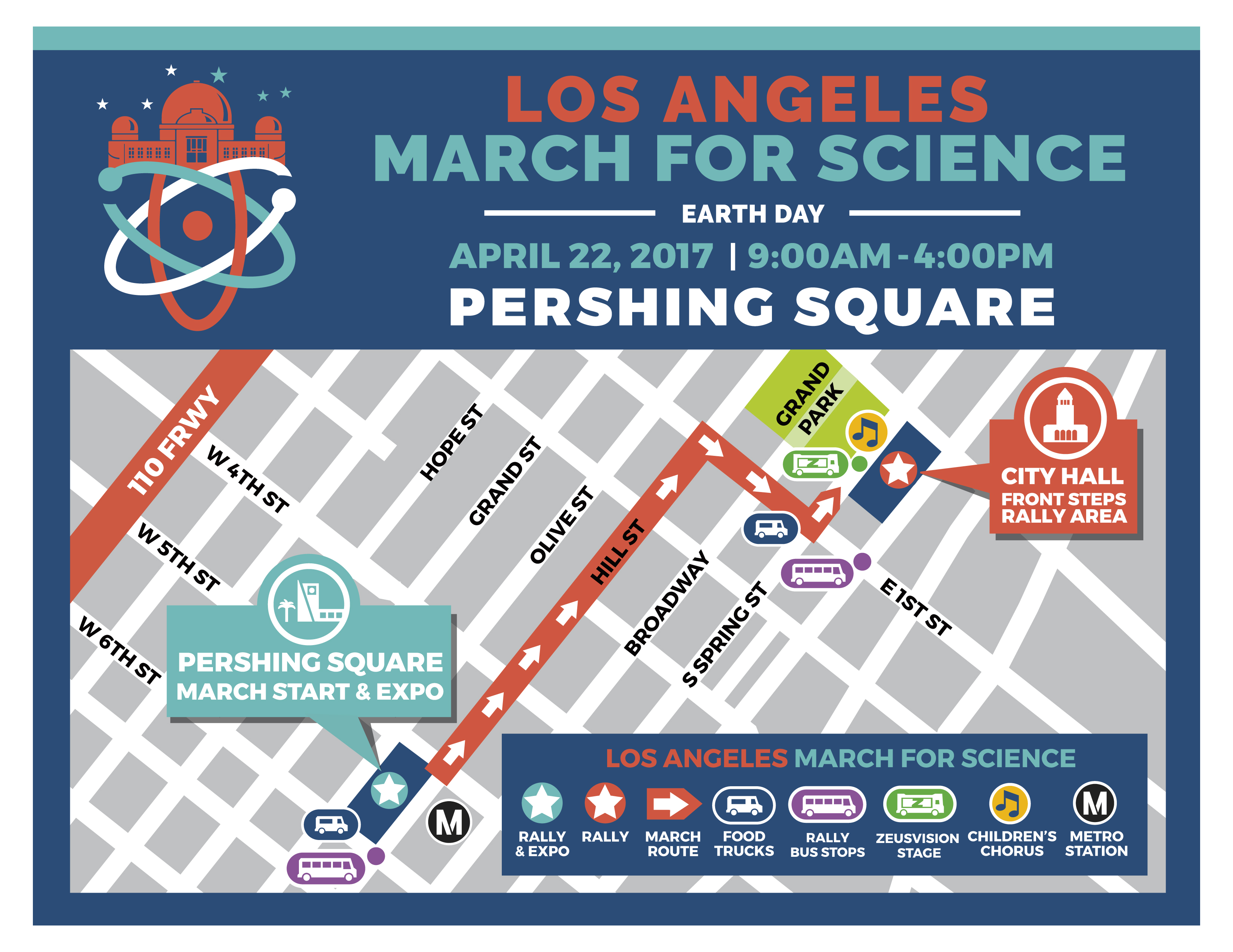 March For Science LA DayOf Information - Los angeles road map download
