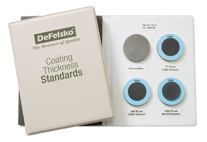 Product photo of DeFelsko Coating Thickness Standards