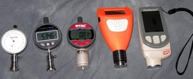 Image displays several surface profile micrometers